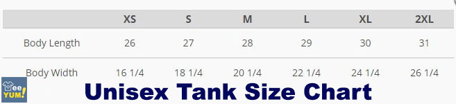 Unisex Tank Size Chart
